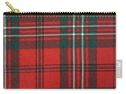 Scott Red Modern Tartan - Carry-All Pouch