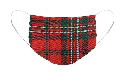 Scott Red Modern Tartan - Face Mask