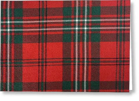 Scott Red Modern Tartan - Greeting Card