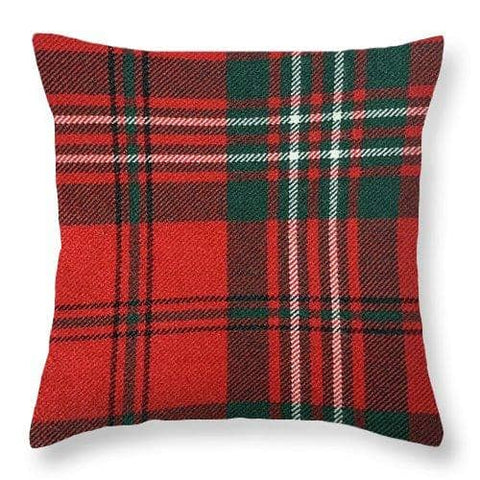 Scott Red Modern Tartan - Throw Pillow