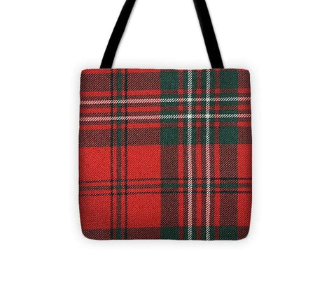 Scott Red Modern Tartan - Tote Bag