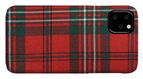 Scott Red Modern Tartan - Phone Case