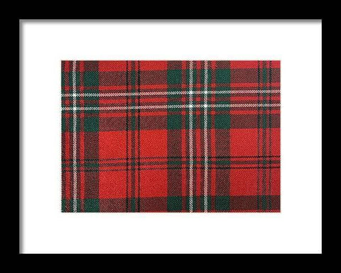 Scott Red Modern Tartan - Framed Print