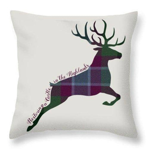 Stag Leaping - Throw Pillow - Scottish Laird