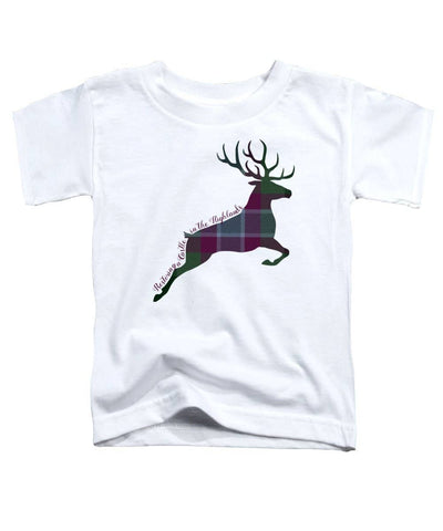 Stag Leaping - Toddler T-Shirt - Scottish Laird