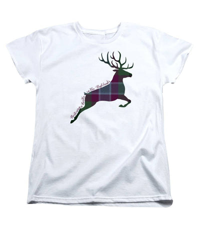 Stag Leaping - Women's T-Shirt (Standard Fit) - Scottish Laird