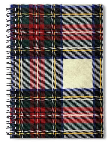 Stewart Dress Modern Tartan Swatch - Spiral Notebook
