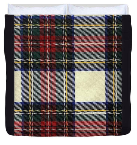 Stewart Dress Modern Tartan Swatch - Duvet Cover