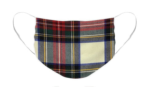 Stewart Dress Modern Tartan Swatch - Face Mask