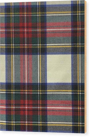 Stewart Dress Modern Tartan Swatch - Wood Print
