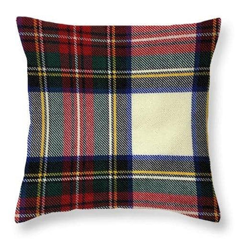 Stewart Dress Modern Tartan Swatch - Throw Pillow