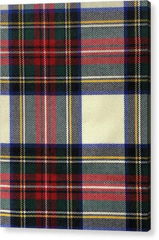 Stewart Dress Modern Tartan Swatch - Acrylic Print