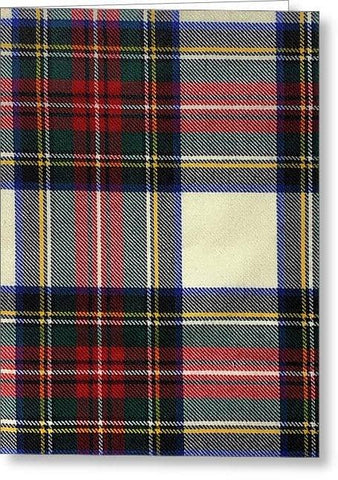 Stewart Dress Modern Tartan Swatch - Greeting Card