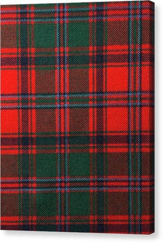Stewart Of Appin Modern Tartan Swatch - Canvas Print