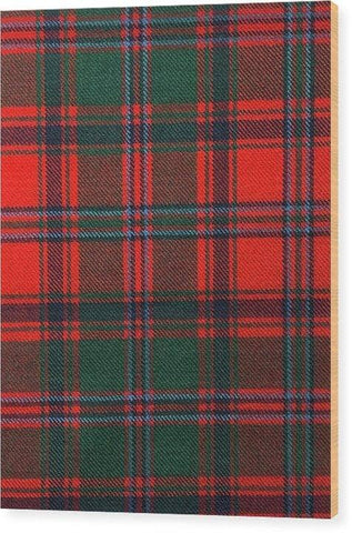 Stewart Of Appin Modern Tartan Swatch - Wood Print