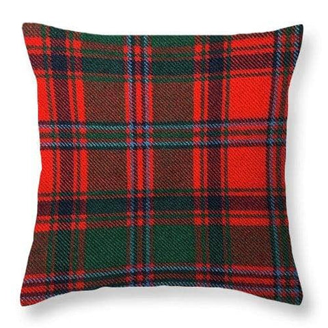 Stewart Of Appin Modern Tartan Swatch - Throw Pillow