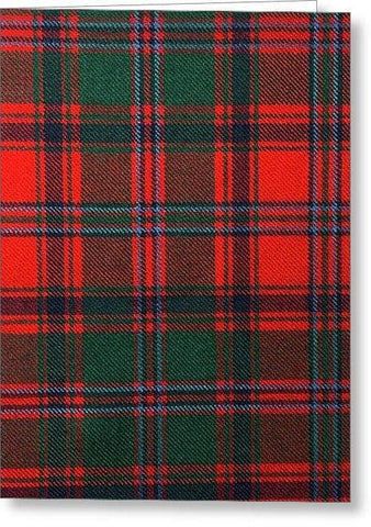 Stewart Of Appin Modern Tartan Swatch - Greeting Card