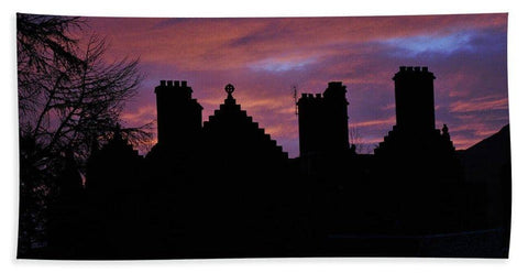 Sunset at the Castle - Bath Towel