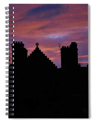 Sunset at the Castle - Spiral Notebook