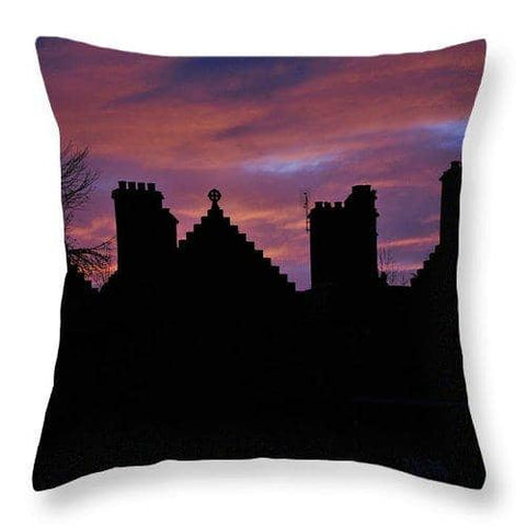 Sunset at the Castle - Throw Pillow