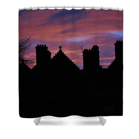 Sunset at the Castle - Shower Curtain