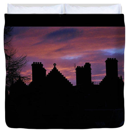 Sunset at the Castle - Duvet Cover