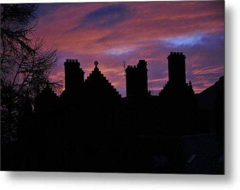 Sunset at the Castle - Metal Print