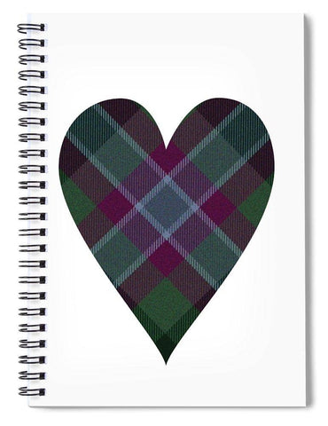 Tartan Heart - Spiral Notebook
