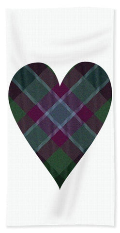 Dunans Rising Tartan Heart - Beach Towel