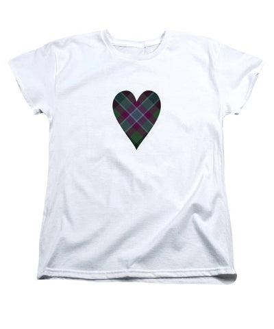 Dunans Rising Tartan Heart - Women's T-Shirt (Standard Fit)