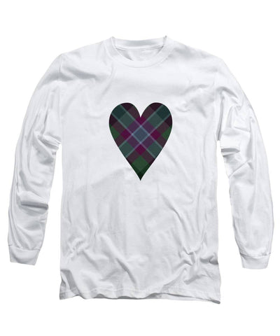 Dunans Rising Tartan Heart - Long Sleeve T-Shirt