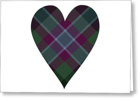 Tartan Heart - Greeting Card