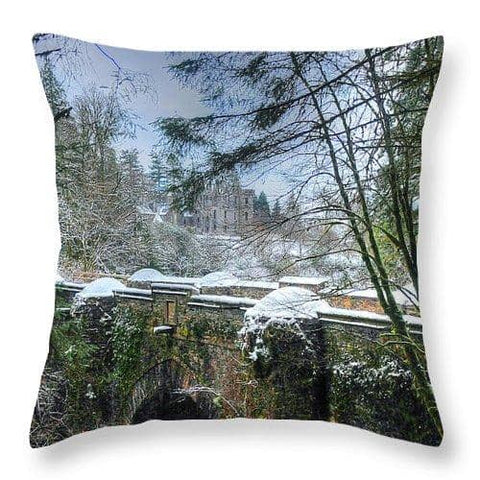 The Bridge and the Castle - Throw Pillow