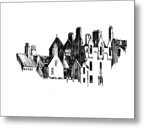 The Partial Castle - Metal Print