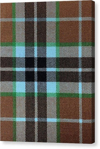 Thompson Hunting Ancient Tartan Swatch - Canvas Print