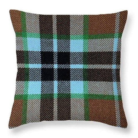 Thompson Hunting Ancient Tartan Swatch - Throw Pillow