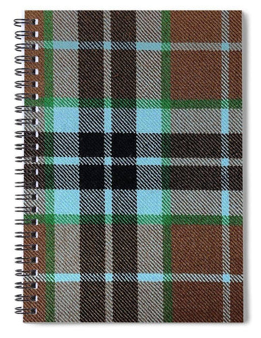 Thompson Hunting Ancient Tartan Swatch - Spiral Notebook