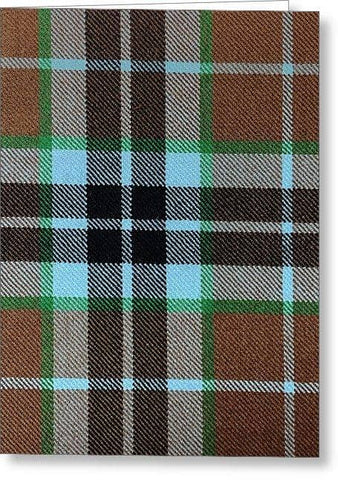 Thompson Hunting Ancient Tartan Swatch - Greeting Card