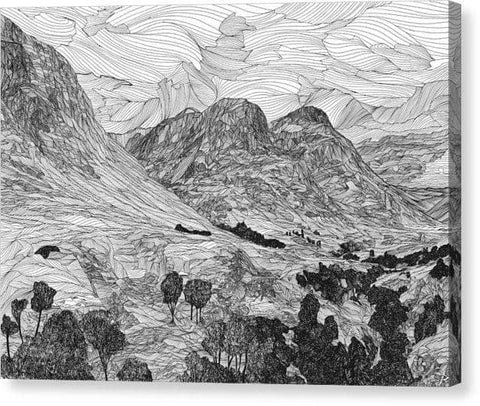 Three Sisters, Glen Coe - Canvas Print