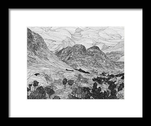 Three Sisters, Glen Coe - Framed Print