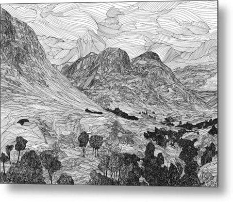 Three Sisters, Glen Coe - Metal Print