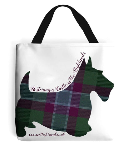 Tote Bag Scottie Terrier in Dunans Rising Tartan - Scottish Laird