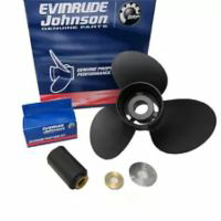 "Evinrude Johnson Aluminum Prop (12x17) for Small 3-3/8"" Gearcase (Thru-Hub Exhaust), 13 Tooth Spline"
