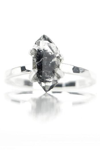 Herkimer Diamant Ring - Sterrenbeeld Steenbok