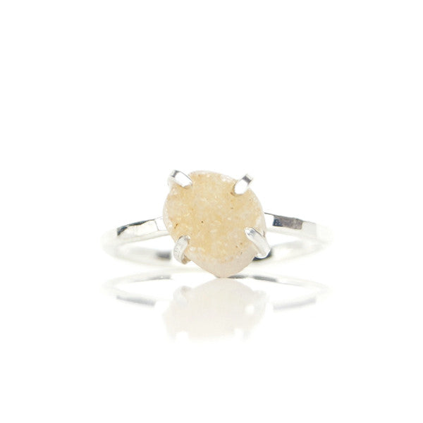 Ruwe Jasmijn Druzy Agaat Ring - ISH Jewels