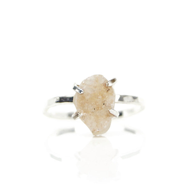 Honey Druzy Ring