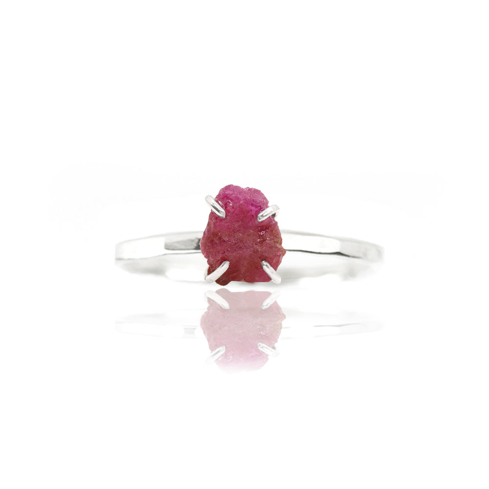 saffier ring roze - geboortesteen ring september