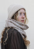 Eleven Everything ribbed merino wool snood Oatmeal beige
