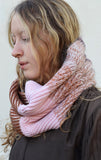 Eleven Everything Women's Chunky ribbed snood pink rose gold