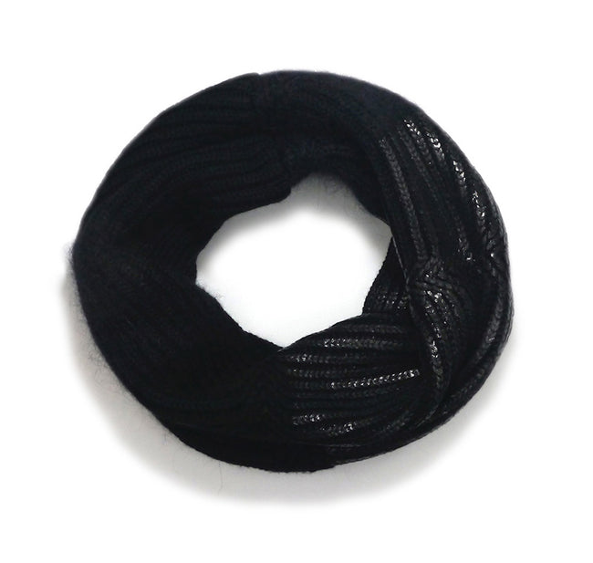 Eleven Everything chunky knit snood merino wool black